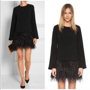 """Elizabeth & James """"Serena"""" ostrich feather dress 8"""